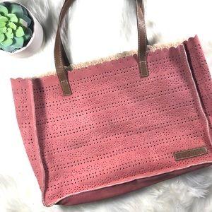 Handbags - Ten79LA Laser Cut Suede Tote